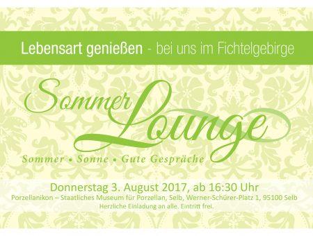 Sommerlounge 2017 am 3. August im Porzellanikon Selb-Plößberg